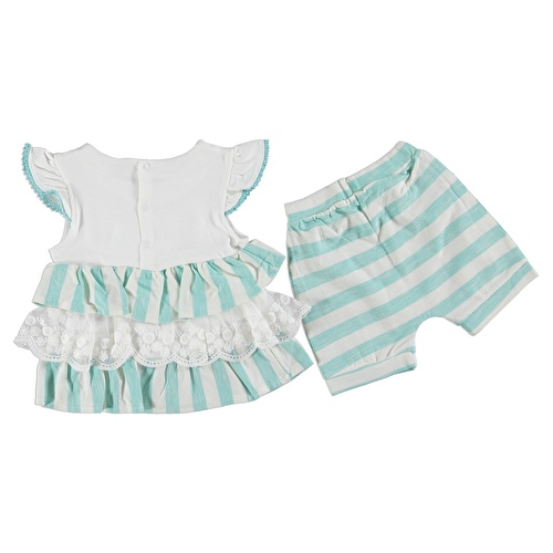 Striped Baby Girl Tshirt Shorts Set