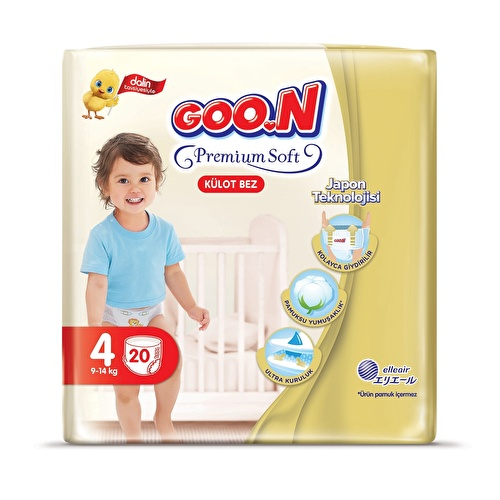 Külot Bez Premium Soft 4 Beden Ekonomik Paket 22 Adet 9-14 kg