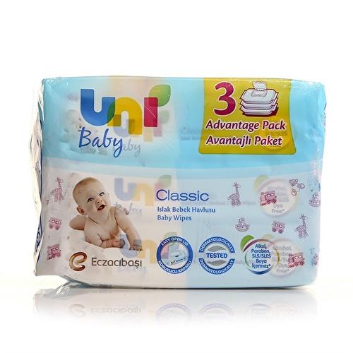 Uni Wipes Classic Wet Baby Towel Advantage Package 3x56 Pcs