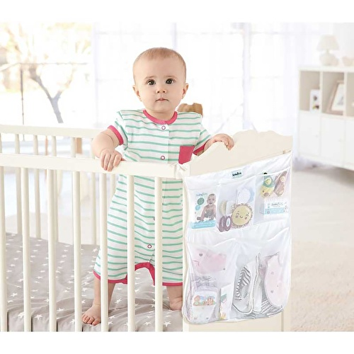 Bed - Crib Head Organizer White