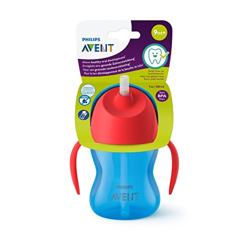 Patterned Cup with Straw 200 ml