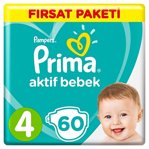 Active Baby Diapers Size 4 Maxi Advantage Pack 9-14 kg 60 pcs