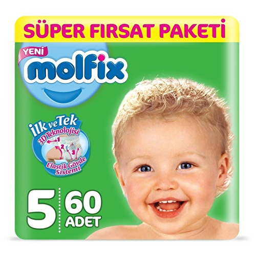 Baby Diapers Size 5 Junior Super Value 11-18 kg 60 pcs