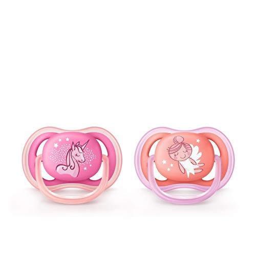 Ultra Air 2'li Emzik 6-18 ay Kız Bebek- Desenli