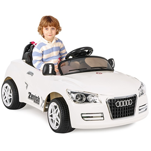 Tery Bery 12V Battery-Powered Car White