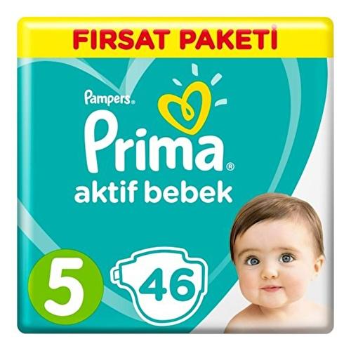 Bebek Bezi Aktif Bebek 5 Beden Junior Fırsat Paketi 11-16 kg 46 Adet