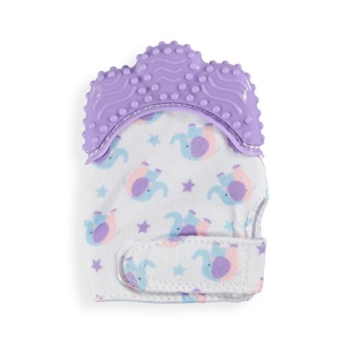 Baby Teether Glove Purple