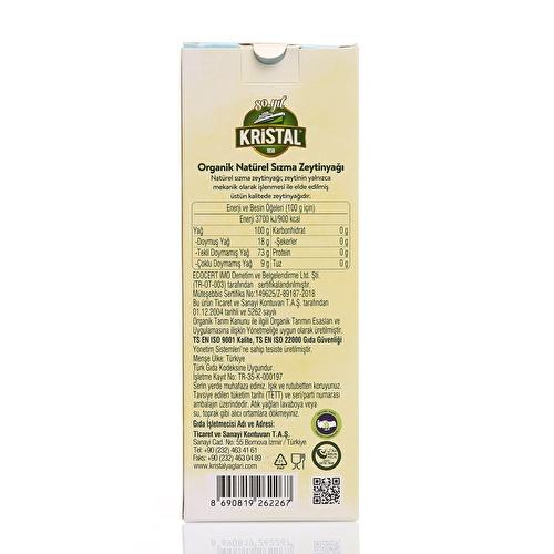 Organik Natürel Sızma Zeytinyağı 250 ml Cam