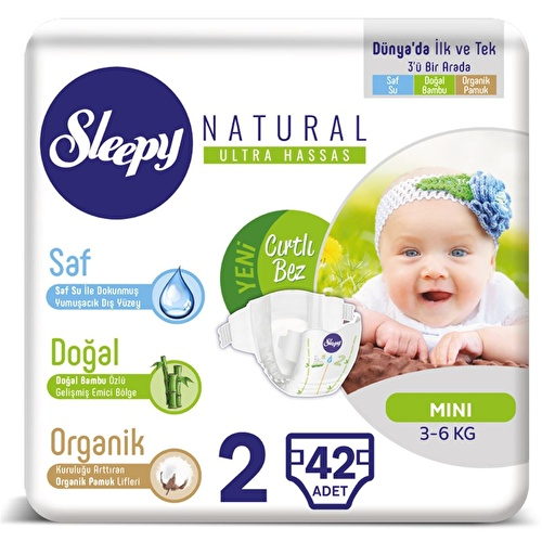 Baby Diapers Size 2 Mini 3-6 kg 42 pcs