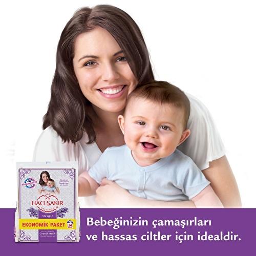 Haci Sakir Granule Soap Detergent 1500 g for Babies and Sensitive Skin