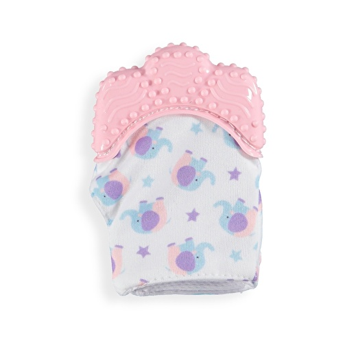 Baby Teether Glove Pink