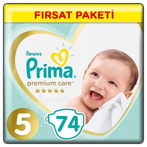 Premium Care Baby Diapers Size 5 Junior Advantage Pack 11-16 kg 74 pcs