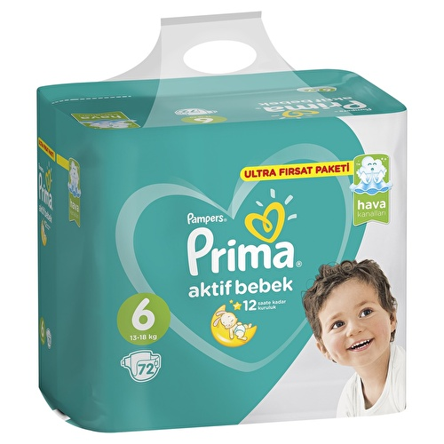 Active Baby Diapers Size 6 Extra Large Ultra Advantage Pack 13-18 kg 72 pcs