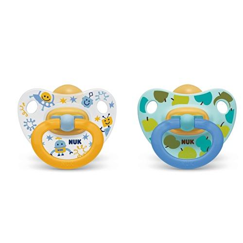 Assorted Happy Kids Rubber Pacifier 6-18 m 2 pcs