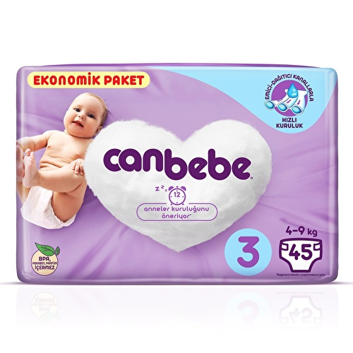 Size 3 Midi Baby Diaper Eco-Pack 4-9 kg 45 pcs