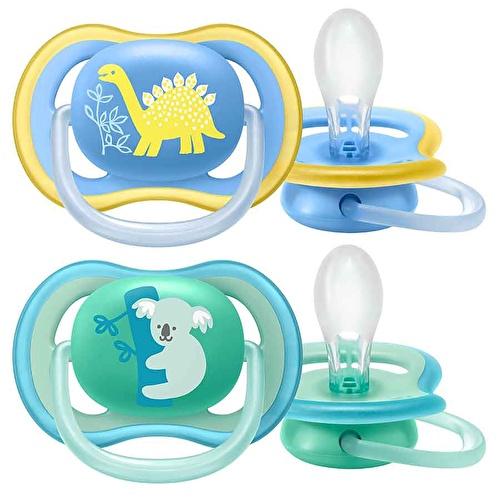 Ultra Air Baby Boy Pacifier 18 Months 2 pcs