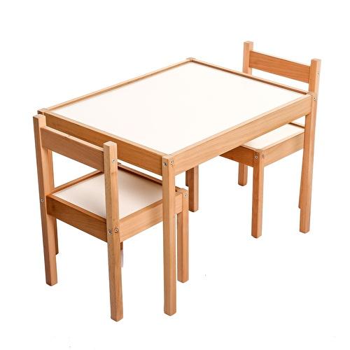 Montessori Ahşap Masa ve Sandalye Seti
