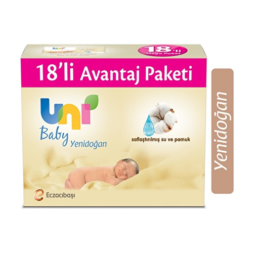 Newborn Wet Cotton Wipes Monthly Package 18x40 pcs