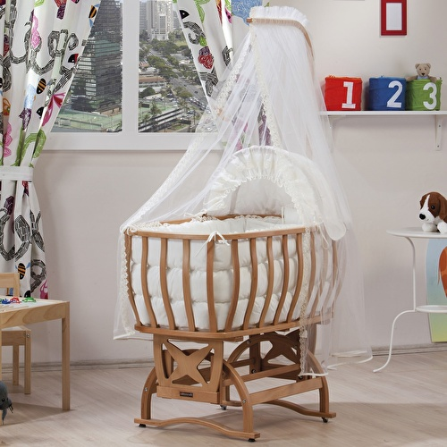 Baby Atlas Wooden Cradle