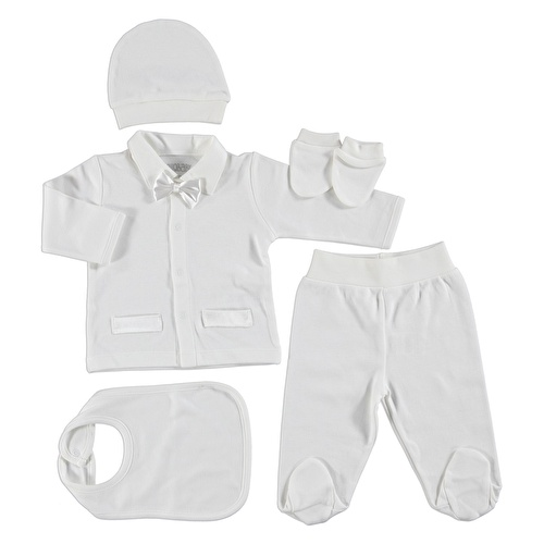Bowtie Baby Newborn Hospital Pack 5 pcs (Newborn Baby Boy Clothes Toddler Infant Set)