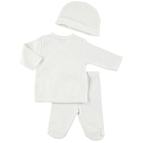 Newborn Baby Bodysuit Trousers Hat Set