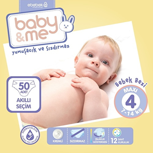 Maxi Number 4 Baby Diaper 7-14 kg 50 pcs