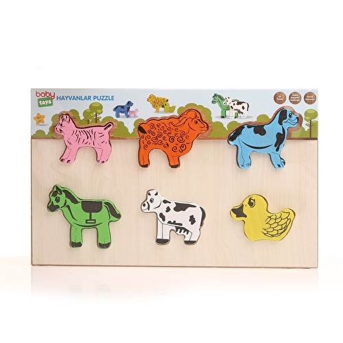 Baby Wooden Animals Puzzle