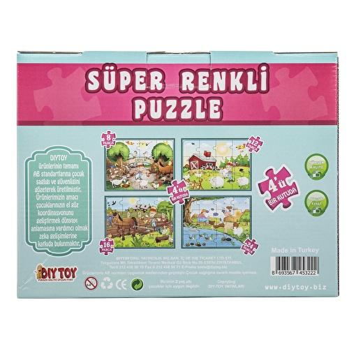 Super Colorful Farm Puzzle 4 pcs