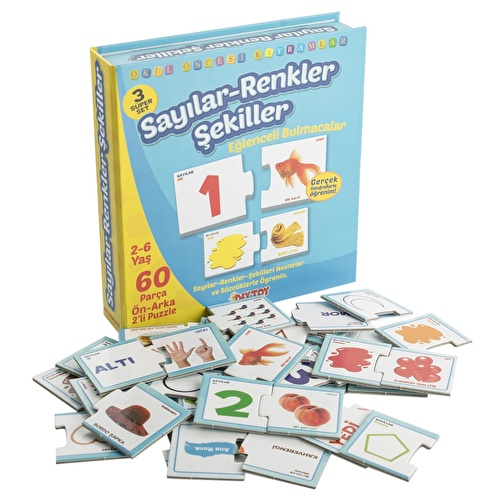 Pre-school Educational Numbers&Colors&Shapes Puzzle