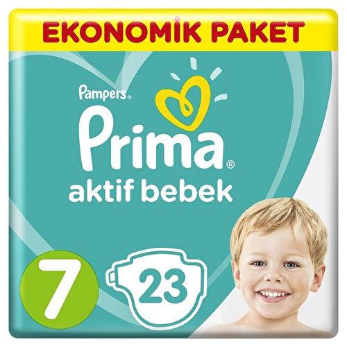 Bebek Bezi Aktif Bebek 7 Beden XX Large Ekonomik Paket 15+kg 23 Adet