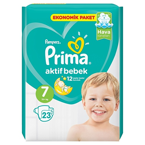 Baby Diapers Active Baby Size 7 XXL Economic Pack 15+kg 23 pcs