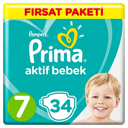 Active Baby Diapers Size 7 XXL Advantage Pack 15+kg 34 pcs