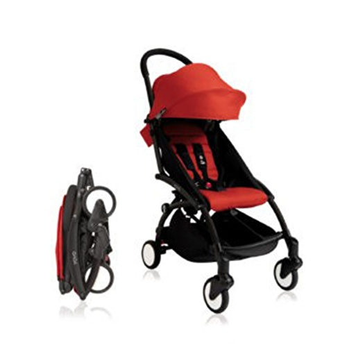 Baby Stroller Black - Red