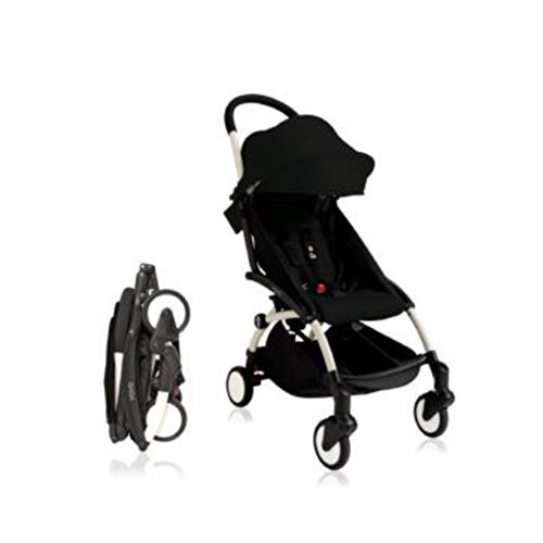 Baby Stroller White - Black