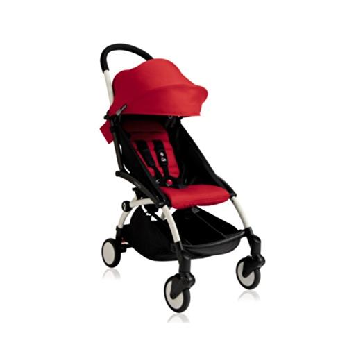 Baby Stroller White - Red
