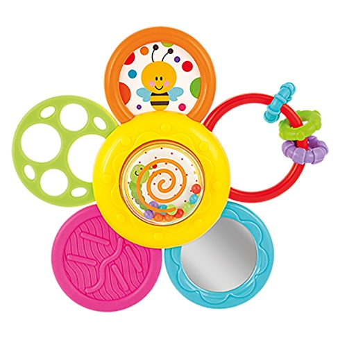 Daisy Spin Rattle Teether