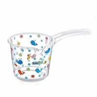 Transparent Patterned Plastic Bath Pitcher 1,25 Litre