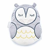 Owl Cherry Stone Filled Pillow For Colic - Grey