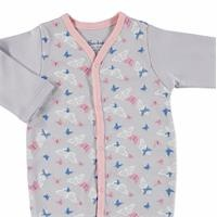 Butterfly Baby Girl Footed Snaps Romper