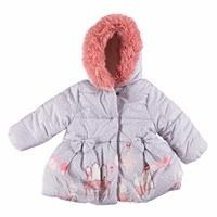 Baby Girl Bow Detail Water Repellent Coat