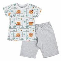 Baby Boy Traffic Feature Printed Short SleevePyjamas