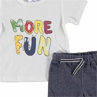 Baby Boy More Fun Tshirt Short Set
