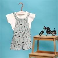 Basic Baby Overall-Tshirt Set