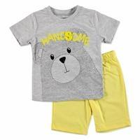 Erkek Bebek Pawsome Ayıcık 2li Tshirt-Şort Takım