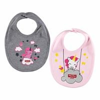Printed Baby Feeding Bib 2 pcs Unicorn