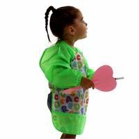 Long Sleeve Baby Patterned Activity Apron/Bib