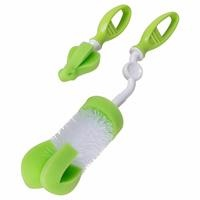 Rotatable Sponge Tip Bottle and Soother Brush