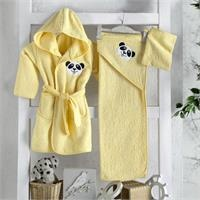 Baby Bathrobe Set - Yellow