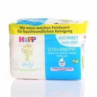 Ultra Sensitive Newborn Cleansing and Care Wipes 3x52 pcs