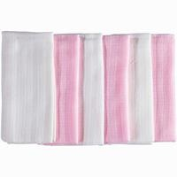 Baby Muslin Mouth Cloth, 6 pieces
